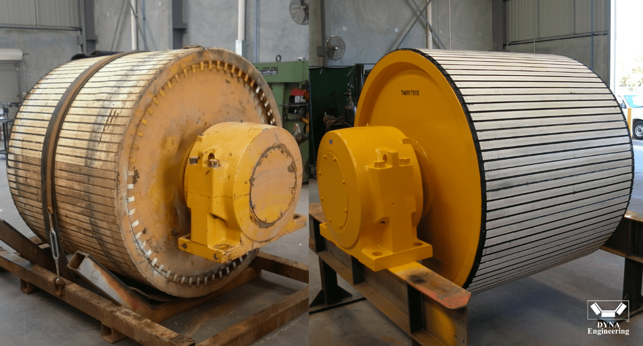DYNA Engineering Conveyor Pulley Refurbishment