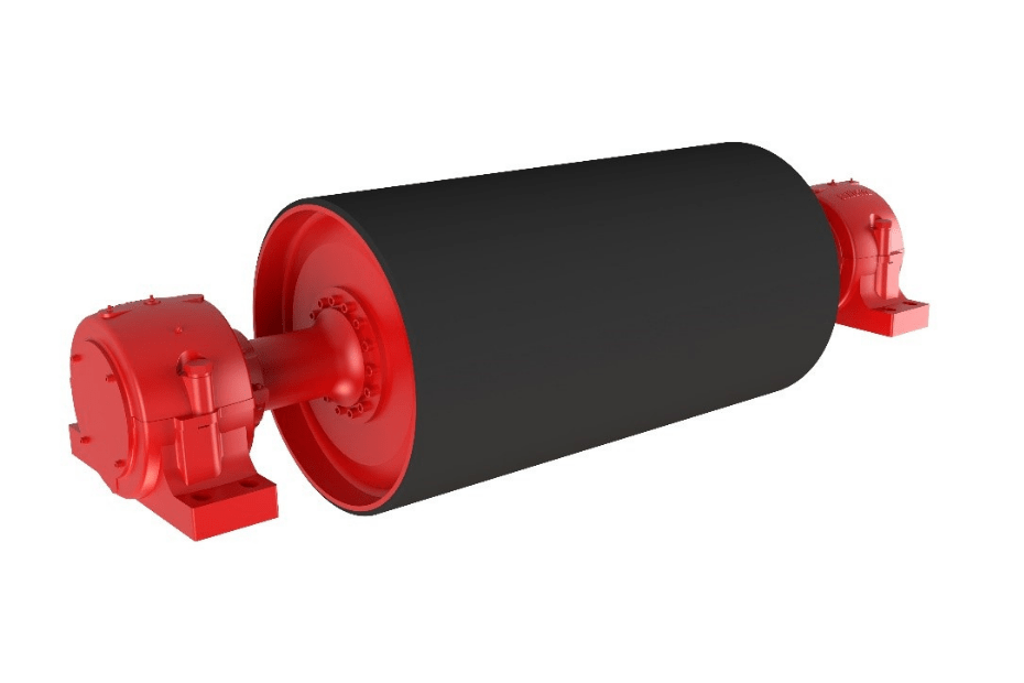 DYNA Engineering Rubber Lagging Conveyor Pulley
