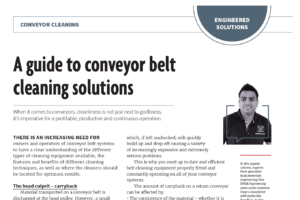 Australian Bulk Handling Review A guide to conveyor belt cleaning solutions DYNA Engineering January February 2019