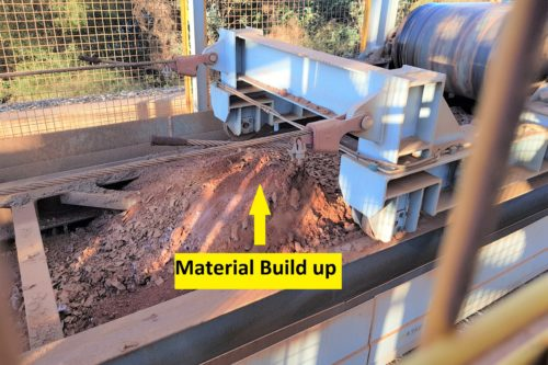 Material build up conveyor DYNA Engineering