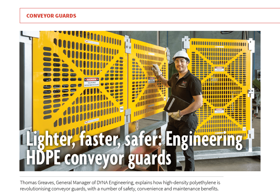 DYNA Engineering HDPE conveyor guards Australian Bulk Handling Review