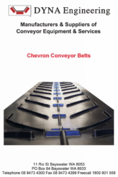DYNA Engineering Chevron Rubber Belt Brochure Cover