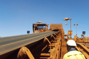 DYNA Engineering Conveyor Belt and Idlers On-site