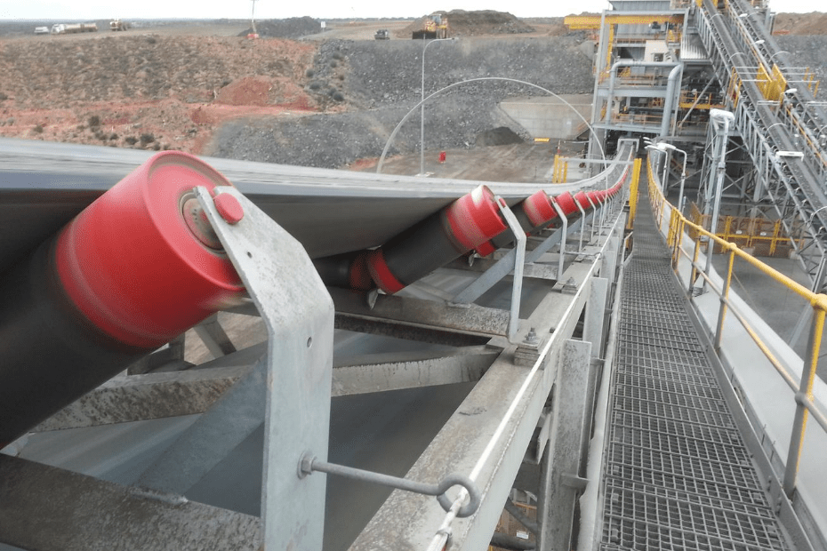 DYNA Engineering Conveyor Idler Rollers On-site