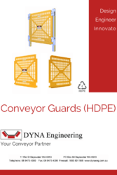 DYNA Engineering HDPE Conveyor Guard Brochure Cover