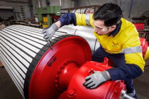 DYNA Engineering Pulley Refurbishments Services Conveyor Pulley Ceramic Lagging