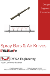 DYNA Engineering Spray Bars and Air Knives Brochure Cover