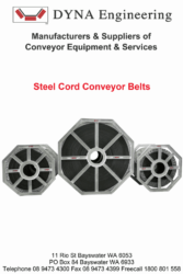 DYNA Engineering Steel Cord Conveyor Belt Brochure Cover